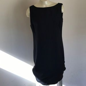 Black Dress with bottom button detail